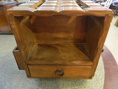 vintage wooden caddy box, kitchen