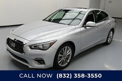 Infiniti Q50 3.0T Luxe 4dr Sedan Texas Direct Auto 2018 3.0T Luxe 4dr Sedan Used Turbo 3L V6 24V Automatic RWD
