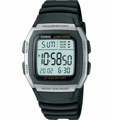 Casio Men's Alarm Chronograph Digital Sport Stainless Steel Watch W96H-1AV