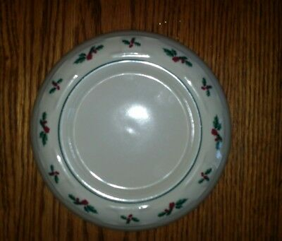 "Holly Pillar Candle Holder 7 1/4"" - Longaberger  Christmas Made in USA"