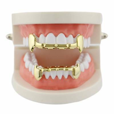 Gold Silber Plated Teeth Mouth Grills Top Bottom Bling Hip Hop Gangster Rap Hot
