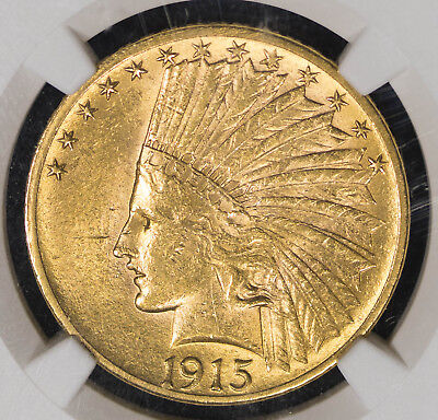 1915 NGC MS60 $10 Indian Gold Eagle Item#T9289