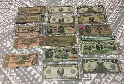 16-PIECE U.S. Large size Currency Lot