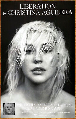 CHRISTINA AGUILERA Liberation 2018 Ltd Ed New RARE Poster +FREE Pop Rock Poster!