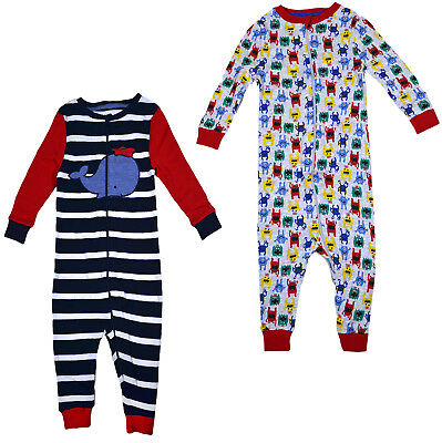Baby Boys 1Onesie1 Boy Zip Playsuit Pyjama All In One Ages 12 18 24 36 Months