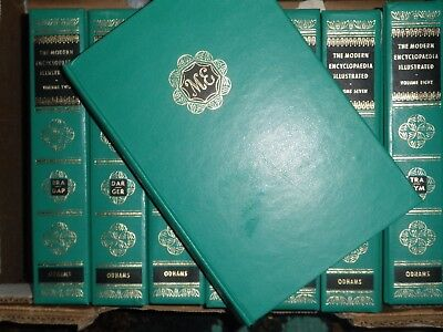 The modern Encyclopaedia illustrated. 8 volumes small format decorative binding