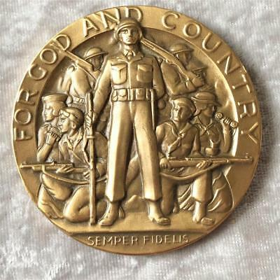 American Legion For God and Country Bronze Medal 2.5 inches School Award