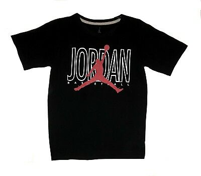 f488a041f38592 Nike Air Jordan Jumpman Youth Boys Black Basketball Shirt Size Small 8-12  Yrs