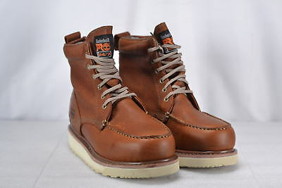 """Men's Timberland Wedge Sole 6"""" Boots Rust 8"""