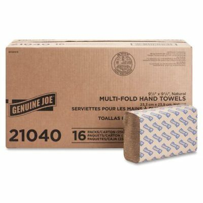Genuine Joe Brown Multi-Fold Paper Towels, 4,000 Towels (GJO21040)