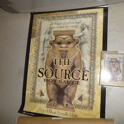 "The Source Hot Sauce 7.1 Million Scoville Units Collectable & 17"" X 23"" Poster"