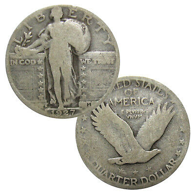 90% Silver Standing Liberty Quarters Average Circulated