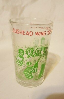 1973 Archie Comics Glass - Jughead Wins The Pie Eating Contest - Welch`s Jelly