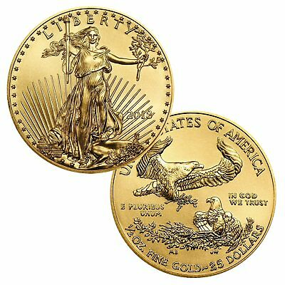 2018 $25 1/2 Ounce Gold American Eagle BU