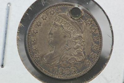 1829 Half Dime VF Holed