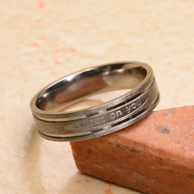 """Fantastic! Carved """"sweet On You"""" Stainless Steel Unisex Fashion Ring Sz 4"""