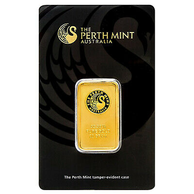 20 Gram .9999 Gold Bar - Perth Mint - In Assay Card