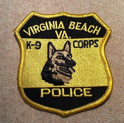 VA Virginia Beach Virginia K-9 Corps Police Patch