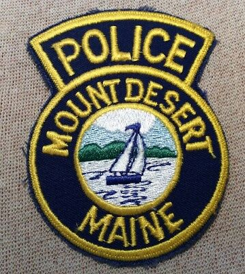 ME Mount Desert Maine Police Patch