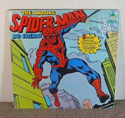 Marvel The Amazing Spider-Man & Friends LP Records 1975 Unopened Factory Sealed