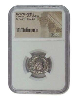 Valerian I Antoninianus , good condition Roman silver coin. NGC certified