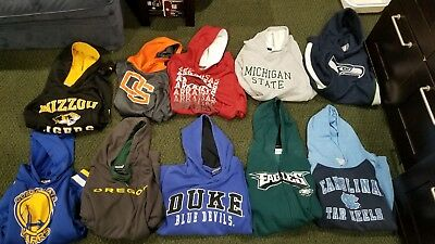 Lot of 10 Youth hoodies ( sizes youth s to youth xl)