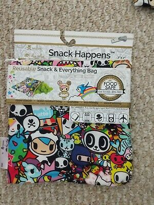 "Tokidoki Itzy Ritzy Reusable Snack Bag 1 Pack 7"" x 7"" Donutella New Exclusive"