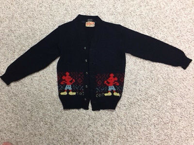 Walt Disney Mickey Mouse sweater, Vintage Marinette children's size - 1940's