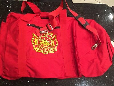 Large Firefighter Rescue Turnout Fire Gear Bag w/ Shoulder Strap