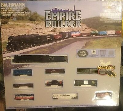 Bachmann N Scale Empire Builder Electric Train Set NEW 24009