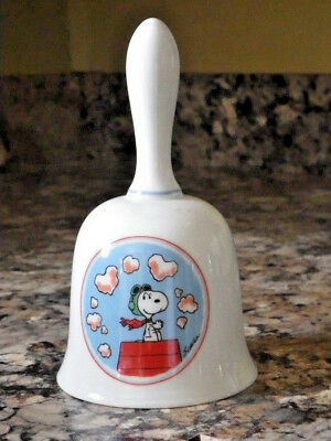 Vintage 1981 Ceramic Schmid Bell Peanuts Snoopy on a Mission For Mom