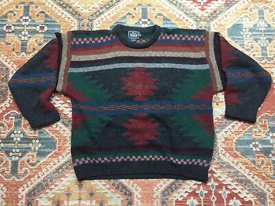 Vintage Woolrich Native Tribal Aztec Navajo Sweater Mens XL