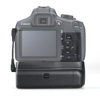 Vertical Battery Grip Holder For Canon EOS 200D Rebel SL2 SLR Camera + Cable
