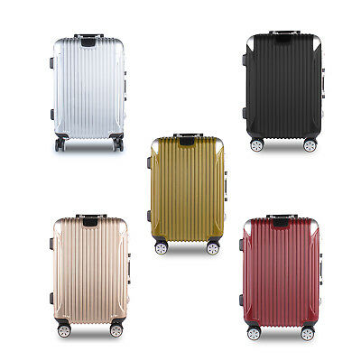 "Moxeay 20"" ABS+PC+Aluminum Carry On Luggage Travel Bag Trolley Suitcase Spinner"