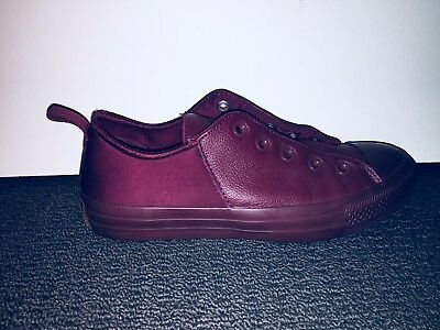 Chuck Taylor Converse ALL STAR maroon leather shoes - as new! Size 37.5