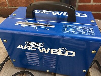 Draper Arc welder,little Use,rods And Mask Included