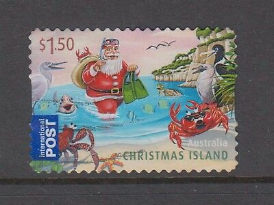 Christmas Island  2011 Christmas International Post Booklet stamp used.