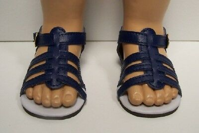 NAVY BLUE Strappy Sandals Doll Shoes For Chatty Cathy (Debs)