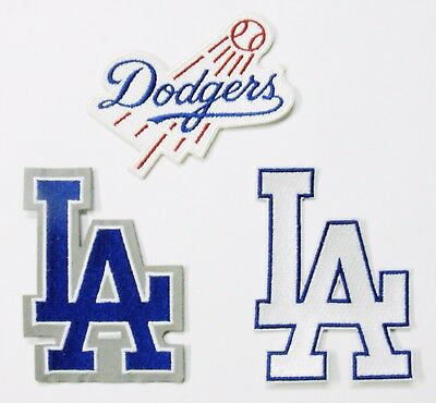 (1) Lot Of (3) Mlb Baseball L A Dodgers Triple Play Embroidered Patch # 59