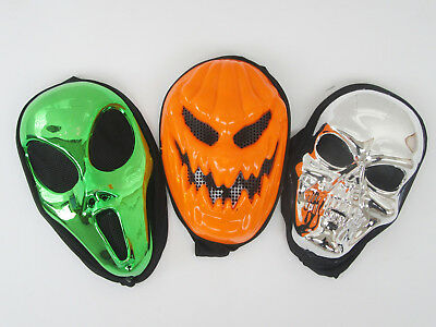8Pcs New Horrific Scary Design Masks Assorted