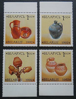 Belarus Pottery set of 4 MNH/Unmounted stamps 1992 SG40-43