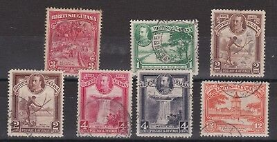 British Guiana KGV 1931 Mixed Pictorials
