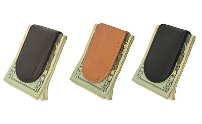 Genuine Handcrafted Leather Men's Strong Magnetic Mini Money Clip