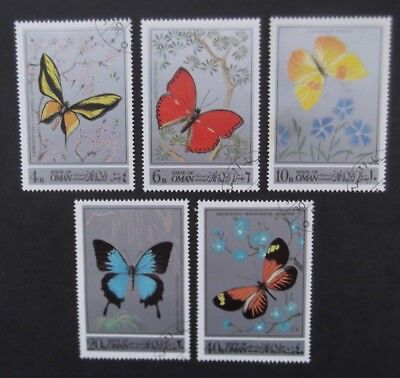 Oman-1972-Butterflies-Set of stamps-Used