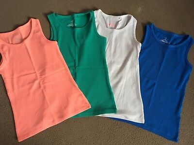 4 Next Girls Vest Tops Age 9 Great Condition