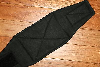 Male Dog Diaper-belly band-QUILTED-Washable- BASIC BLACK by angelpuppi