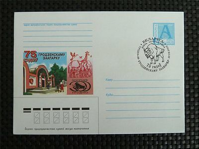 BELARUS ANIMALS BISON WISENT BUFFALO BISONS WISENTE Ganzsache Cover c5659