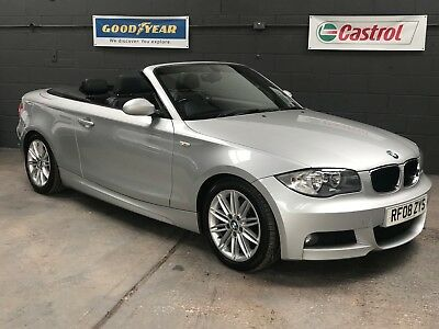 BMW 120i M SPORT AUTO CONVERTIBLE 2008 1-SERIES ** FULL LEATHER ** NO RESERVE **