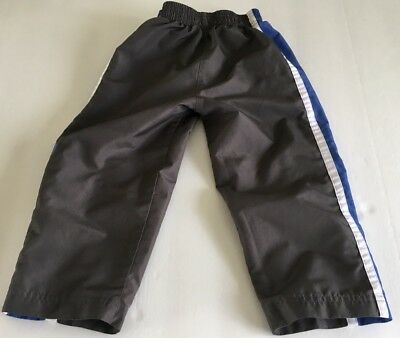 Nike Size 3 Toddler Athletic Pants In Dark Gray With Sharp Blue White Side Panel