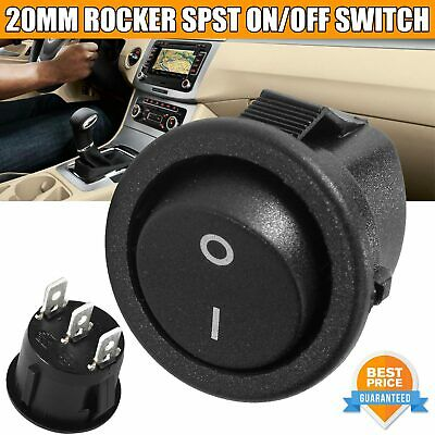 Rocker Switches ROUND DIY Electrical Fitting CAR BOAT VAN DASH ON OFF LED 12V